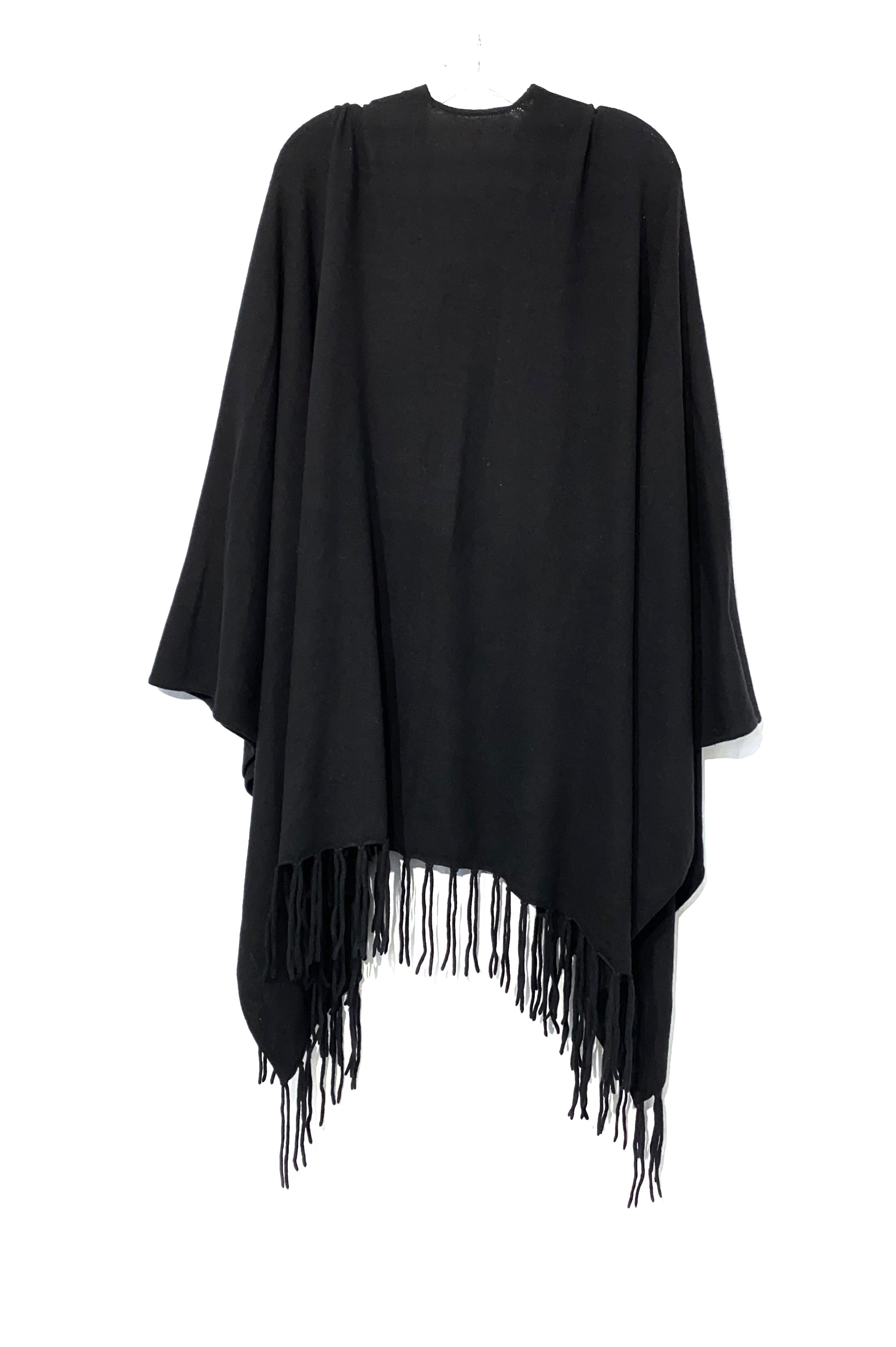 Photo #1 - BRAND:    CLOTHES MENTOR <BR>STYLE: SHAWL <BR>COLOR: BLACK <BR>SIZE: M/L<BR>SKU: 262-26275-70955