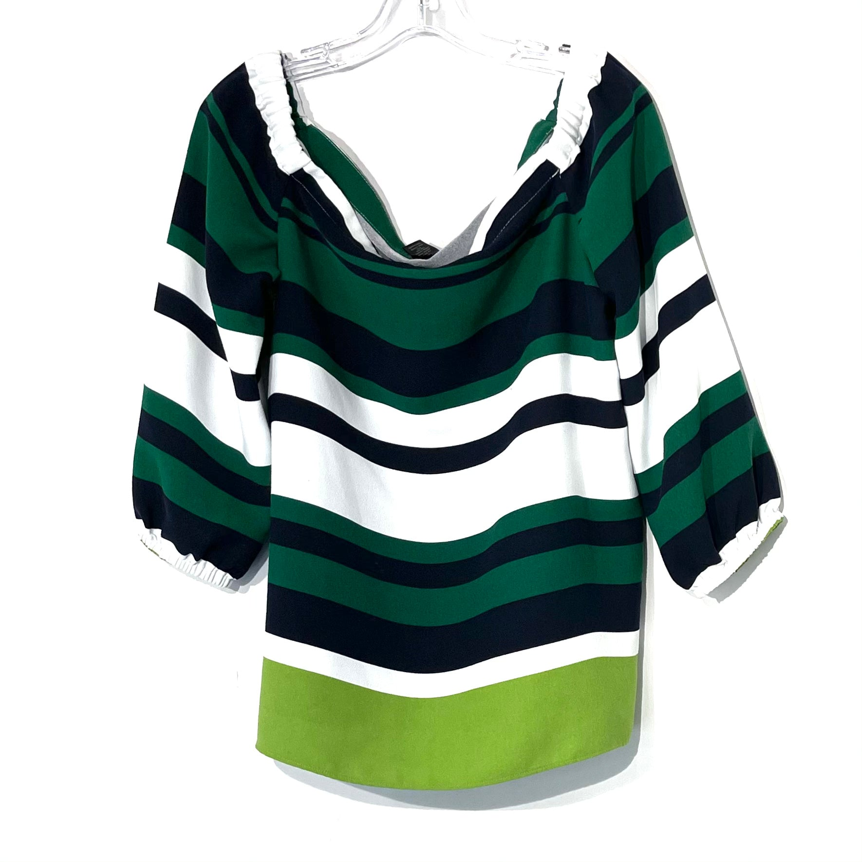 Primary Photo - BRAND: ANN TAYLOR FACTORY<BR>STYLE: TOP LONG SLEEVE <BR>COLOR: BLUE GREEN <BR>SIZE: L <BR>SKU: 262-26275-74294