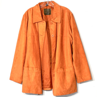 Primary Photo - BRAND: ST JOHNS BAY STYLE: JACKET OUTDOOR COLOR: ORANGE SIZE: 1X SKU: 262-26275-75961100% SUEDE LEATHER