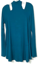 Photo #1 - BRAND: FREE PEOPLE <BR>STYLE: TOP LONG SLEEVE SWEATER <BR>COLOR: BLUE GREEN<BR>SIZE: S <BR>SKU: 262-26211-140815