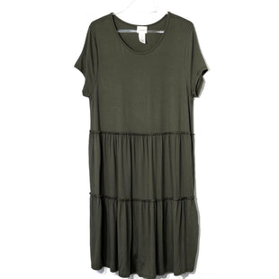 Primary Photo - BRAND: CAUTION TO THE WIND STYLE: DRESS SHORT SHORT SLEEVE COLOR: OLIVE SIZE: L SKU: 262-26211-141033