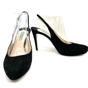 Primary Photo - BRAND: PRADA STYLE: SHOES HIGH HEEL COLOR: BLACK SIZE: 10 /40SKU: 262-26211-144842VELVET