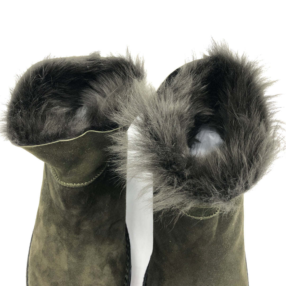Photo #3 - BRAND:  BOEMOS <BR>STYLE: BOOTS ANKLE <BR>COLOR: OLIVE <BR>SIZE: 13 | 43<BR>SKU: 262-26241-44651<BR>AS IS