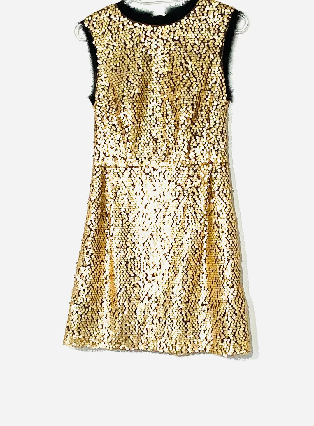 Primary Photo - BRAND: NANETTE LEPORE <BR>STYLE: DRESS SHORT SLEEVELESS <BR>COLOR: GOLD SEQUIN <BR>SIZE: XS /2<BR>SKU: 262-26275-69802