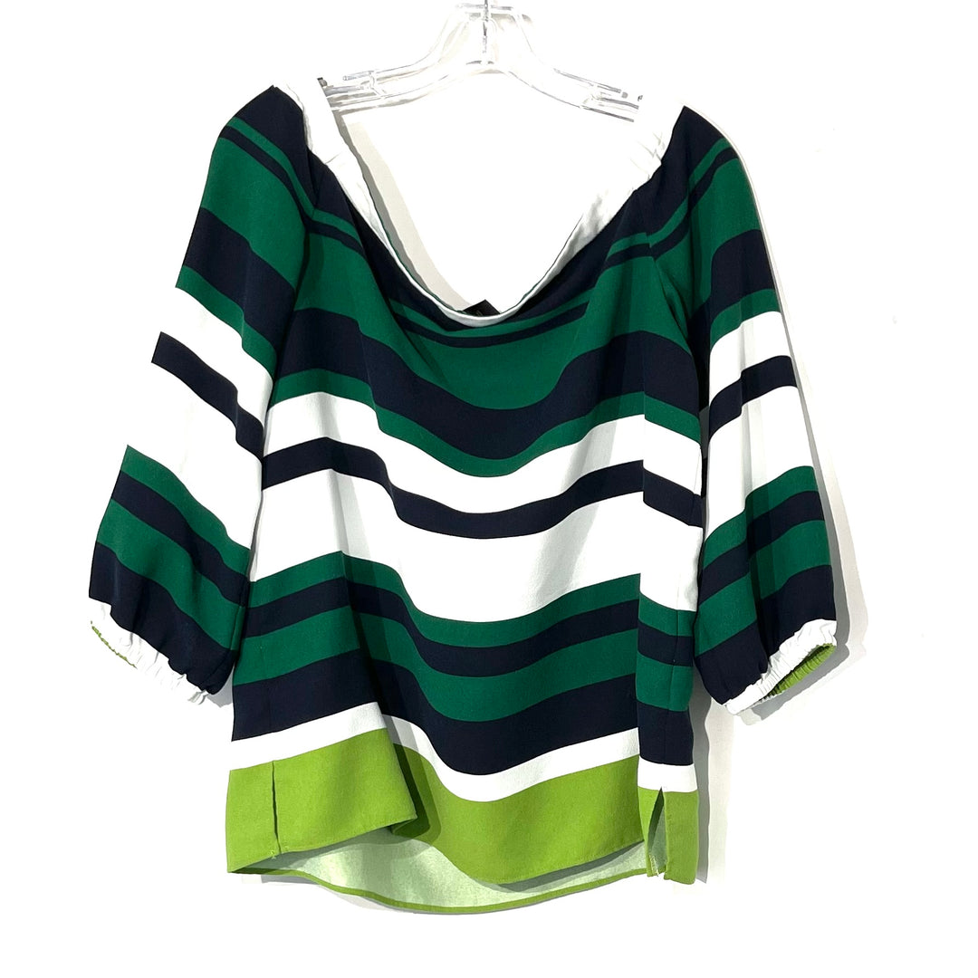 Photo #1 - BRAND: ANN TAYLOR FACTORY<BR>STYLE: TOP LONG SLEEVE <BR>COLOR: BLUE GREEN <BR>SIZE: L <BR>SKU: 262-26275-74294