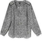 Primary Photo - BRAND: TALBOTS <BR>STYLE: TOP LONG SLEEVE <BR>COLOR: GREY WHITE <BR>SIZE: XL <BR>SKU: 262-26275-76048