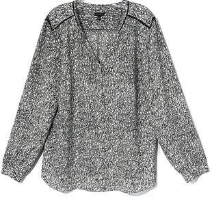 Primary Photo - BRAND: TALBOTS STYLE: TOP LONG SLEEVE COLOR: GREY WHITE SIZE: XL SKU: 262-26275-76048