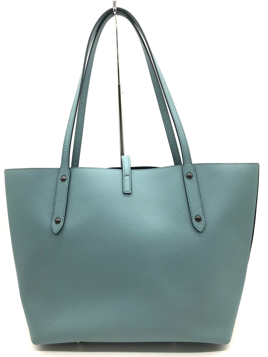 "Photo #1 - BRAND: COACH <BR>STYLE: HANDBAG DESIGNER <BR>COLOR: TEAL <BR>SIZE: LARGE 11""H X 18""L X 6.8""W<BR>HANDLE DROP: 11""<BR>SKU: 262-26241-43323<BR>LIKE NEW CONDITION"