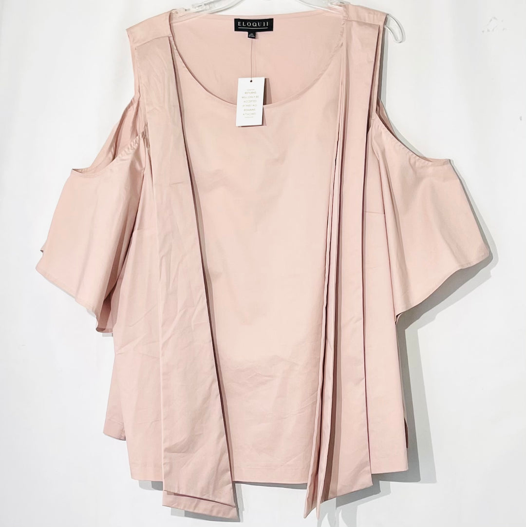 Primary Photo - BRAND: ELOQUII <BR>STYLE: BLOUSE <BR>COLOR: DUSTY PINK <BR>SIZE: 24<BR>SKU: 262-26211-143539