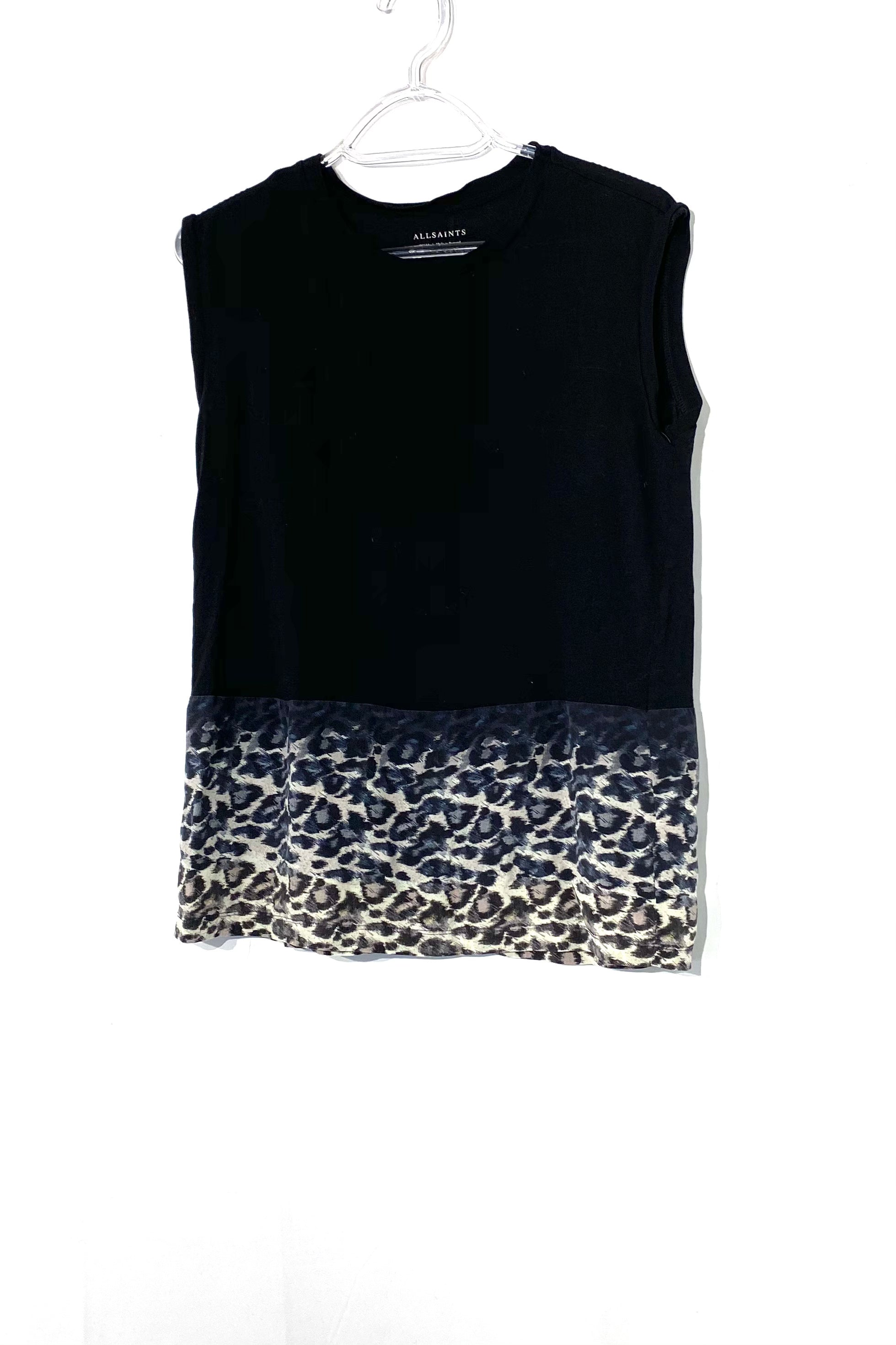 Primary Photo - BRAND: ALL SAINTS <BR>STYLE: TOP SLEEVELESS <BR>COLOR: ANIMAL PRINT <BR>SIZE: S <BR>SKU: 262-26275-71835