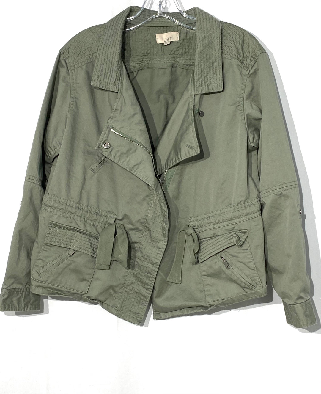 Primary Photo - BRAND: ANN TAYLOR LOFT <BR>STYLE: BLAZER JACKET <BR>COLOR: OLIVE <BR>SIZE: S <BR>SKU: 262-26211-141526
