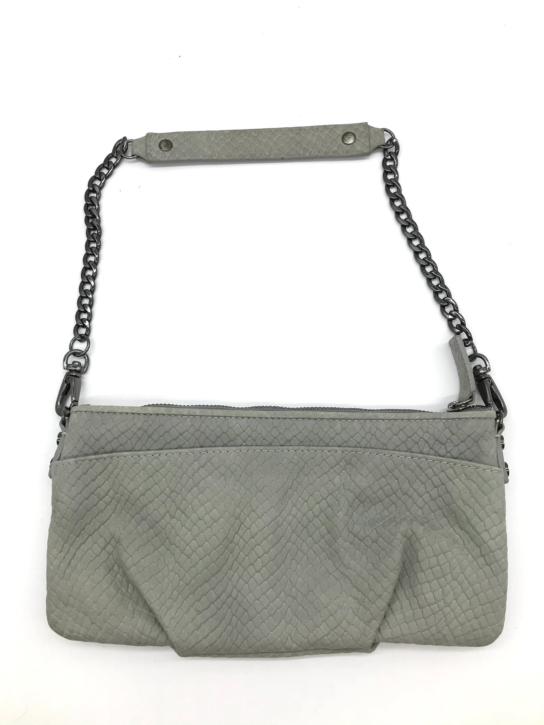 "Photo #1 - BRAND: KENNETH COLE <BR>STYLE: WRISTLET <BR>COLOR: GREY <BR>SKU: 262-26241-44459<BR><BR>APPROX. 9.25""L X 4.5""H"