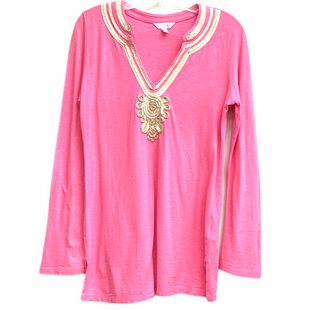 Primary Photo - BRAND: LILLY PULITZER STYLE: TUNIC LONG SLEEVE COLOR: PINK SIZE: M SKU: 262-26241-48138GENTLEST FUZZINESS AND FADE AS ISDESIGNER FINAL