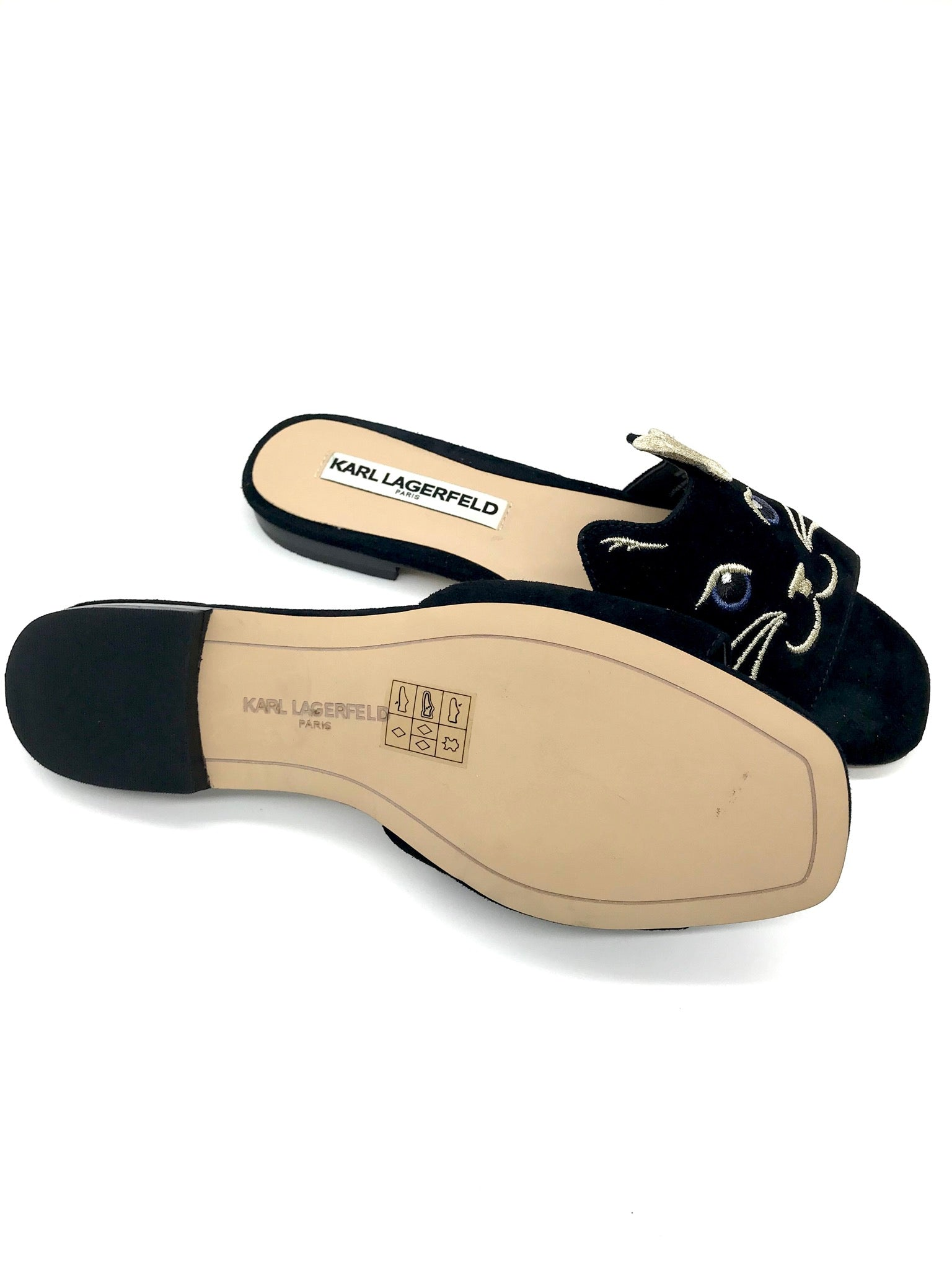 Photo #3 - BRAND: KARL LAGERFELD <BR>STYLE: SANDALS FLAT <BR>COLOR: BLACK <BR>SIZE: 6 <BR>SKU: 262-26275-65272<BR>GENTLE WEAR - AS IS