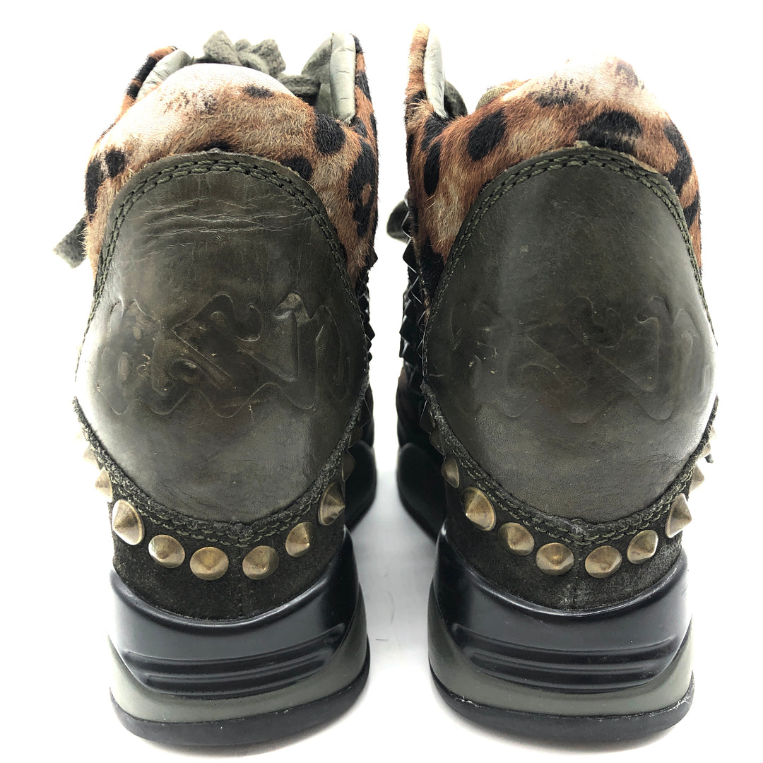 Photo #4 - BRAND: ASH <BR>STYLE: SHOES ATHLETIC <BR>COLOR: ANIMAL PRINT <BR>SIZE: 36 (US: APPROX. 5.5)<BR>SKU: 262-26275-73921<BR><BR>SLIGHT WEAR INCLUDING TONGUE, BACK OF SHOE