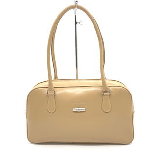"Primary Photo - BRAND: LONGCHAMP STYLE: HANDBAG DESIGNER COLOR: BEIGE SIZE: 8""H X 14""L X 4""DDROP: 7""SKU: 262-26211-143847SOME CRACKING ON THE LEATHER • OVERALL IN GOOD SHAPE AND CONDITION •"