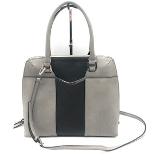 "Primary Photo - BRAND: CALVIN KLEIN STYLE: HANDBAG DESIGNER COLOR: GREY SIZE: MEDIUM OTHER INFO: AS IS CORNERS SKU: 262-26275-74459PRICE REFLECTS WEAR INCL. TO CORNERS, HANDLES - PLEASE SEE PHOTOS. APPROX. 12""L X 11""H X 5""D"
