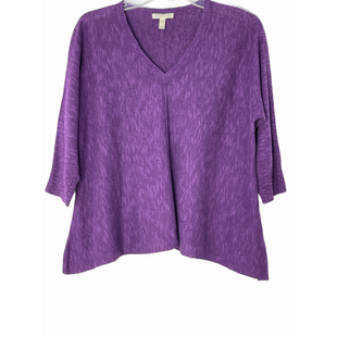 Primary Photo - BRAND: EILEEN FISHER STYLE: TOP 3/4 LONG SLEEVE COLOR: PURPLE SIZE: PETITE  MEDIUM OTHER INFO: 56% ORGANIC LINEN 44%ORGANIC COTTON SKU: 262-262101-3175