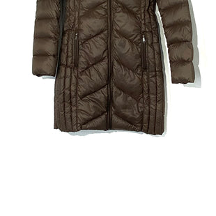 Primary Photo - BRAND: BCBGENERATION STYLE: COAT LONGCOLOR: BROWN SIZE: S SKU: 262-26275-72661100% DOWN AND FEATHERS FILLINGSLIGHT TARNISH ON SOME HARDWARE AS IS