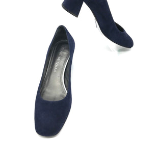 Primary Photo - BRAND: STUART WEITZMAN STYLE: SHOES LOW HEEL COLOR: NAVY SIZE: 6 SKU: 262-26275-68670SOME SLIGHT MARKS TO BACK OF HEEL