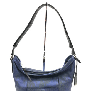 "Primary Photo - BRAND: COLE-HAAN STYLE: HANDBAG COLOR: NAVY SIZE: MEDIUM 11""H X 13.75""L X 6""WSTRAP DROP: 10"" - 20.5""SKU: 262-26275-70326IN GOOD SHAPE AND CONDITION"