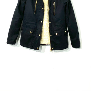 Primary Photo - BRAND: TOP SHOP STYLE: JACKET OUTDOOR COLOR: NAVY SIZE: S /4SKU: 262-26275-70763100% COTTON