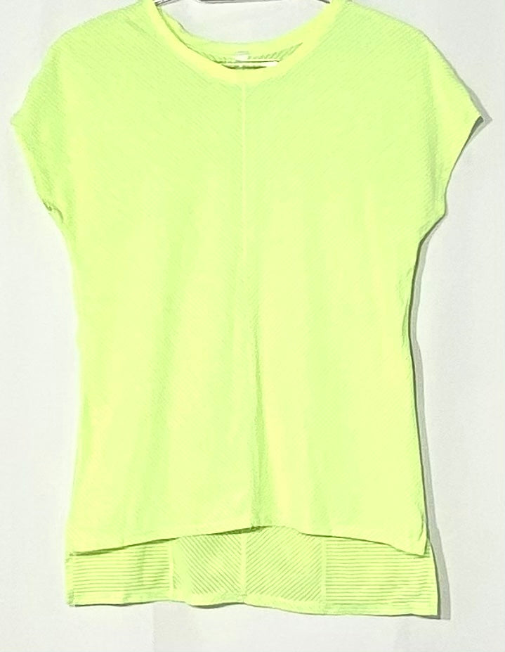 Primary Photo - BRAND: LULULEMON <BR>STYLE: ATHLETIC TOP SHORT SLEEVE <BR>COLOR: NEON <BR>SIZE: 6 <BR>SKU: 262-26211-141474<BR>ACTUAL COLOR BRIGHTER THAN PHOTO<BR>DESIGNER FINAL
