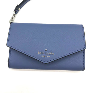 "Primary Photo - BRAND: KATE SPADE STYLE: WRISTLET COLOR: BLUE SKU: 262-26275-73198APPROX. 6""L X 4""H"