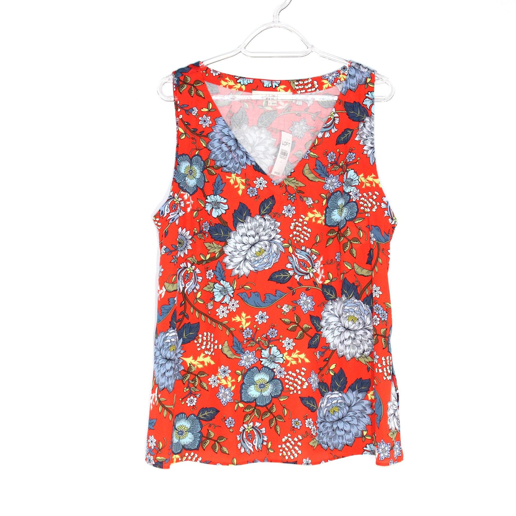 Primary Photo - BRAND: ANN TAYLOR LOFT <BR>STYLE: TOP SLEEVELESS <BR>COLOR: FLORAL <BR>SIZE: L <BR>SKU: 262-26275-58692