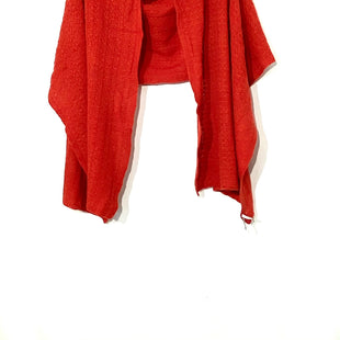 "Primary Photo - BRAND:    NORDSTROM COLLECTION STYLE: SHAWL SCARF CASHMERE COLOR: ORANGE REDSKU: 262-26275-70959SIZE: XL100% CASHMERE DESIGNER FINAL 86"" LENGTH X 24"" WIDTH"