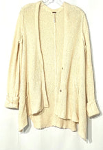 Primary Photo - BRAND: FREE PEOPLE <BR>STYLE: SWEATER CARDIGAN LIGHTWEIGHT <BR>COLOR: CREAM<BR>SIZE: XS /S<BR>SKU: 262-26275-68663<BR>OVERSIZED