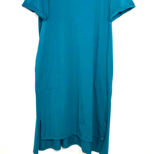 "Primary Photo - BRAND: EILEEN FISHER STYLE: DRESS SHORT SHORT SLEEVE COLOR: TEAL SIZE: XL SKU: 262-26241-42243COUPLE SMALL SPOTS DIFFICULT TO SEEDESIGNER FINAL PIT TO HEM 31"" (FRONT) 33"" (BACK)ACTUAL COLOR MORE GREEN THAN PHOTO SHOWS"