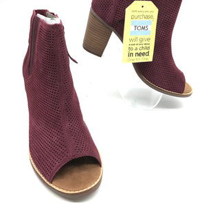 Primary Photo - BRAND: TOMS STYLE: BOOTS ANKLE COLOR: MAROON SIZE: 9 SKU: 262-26275-69920NEW / NEVER WORN CONDITION