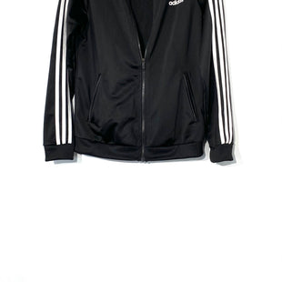 Primary Photo - BRAND: ADIDAS STYLE: ATHLETIC TOP COLOR: BLACK WHITE STRIPED SIZE: M SKU: 262-26275-70885