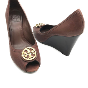 Primary Photo - BRAND: TORY BURCH STYLE: AURELIA-LANDED CAPRA LEATCOLOR: BROWN SIZE: 9 SKU: 262-26211-140663GENTLE WEAR SHOWS AROUND THE TOE AREAS - AS IS