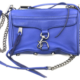"Primary Photo - BRAND: REBECCA MINKOFF STYLE: HANDBAG DESIGNER COLOR: BLUE SIZE: MEDIUM SKU: 262-26241-44685APPROX. 9""L X 6""H X 1.5""D. PRICE DOES REFLECT SLIGHT WEAR TO CORNERS, INTERIOR"