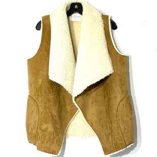 Primary Photo - BRAND: VELVET STYLE: VEST COLOR: TAN SIZE: S SKU: 262-26275-77114. FAUX FUR AND LEATHER.