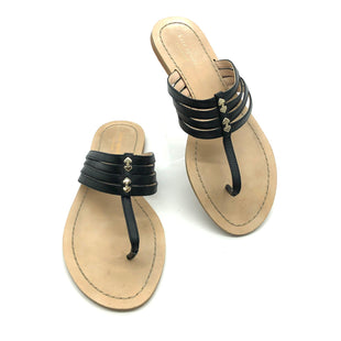 Primary Photo - BRAND: KATE SPADE STYLE: FLIP FLOPS COLOR: BLACK SIZE: 8 OTHER INFO: AS IS WEAR SKU: 262-26275-72393DESIGNER BRAND FINAL SALE AS IS WEAR AND SMALL TEAR ON STRAP (SEE PHOTOS)