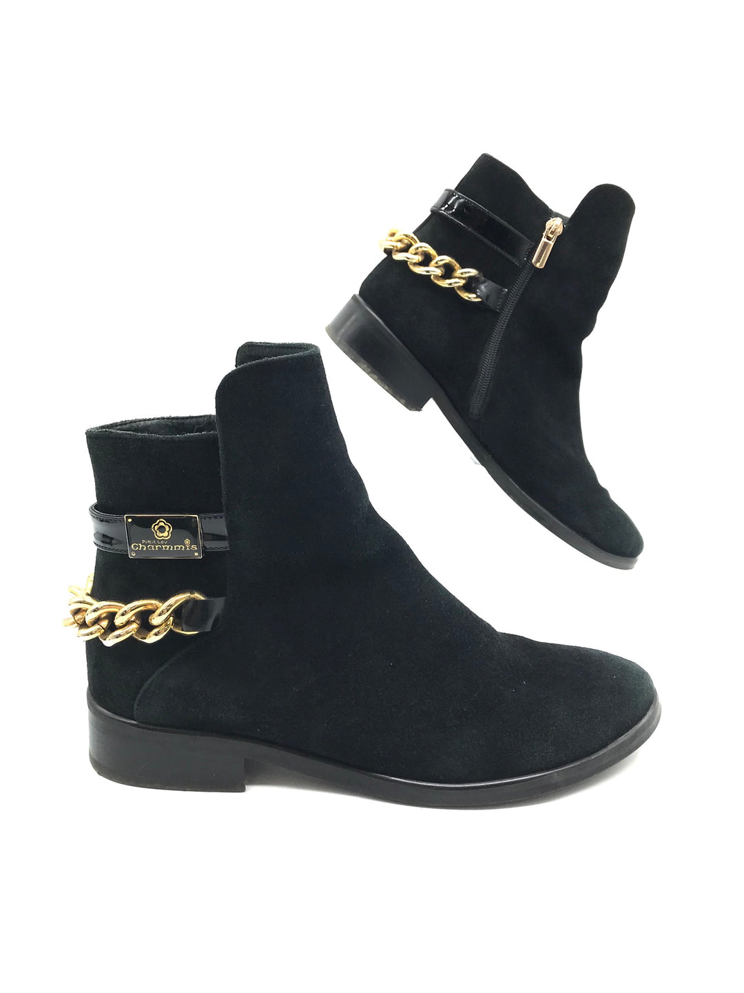 Photo #1 - BRAND:    ITALY DESIGN / CHARMISS <BR>STYLE: BOOTS ANKLE <BR>COLOR: BLACK <BR>SIZE: 7 <BR>OTHER INFO: CHARMISS - <BR>SKU: 262-26275-68602