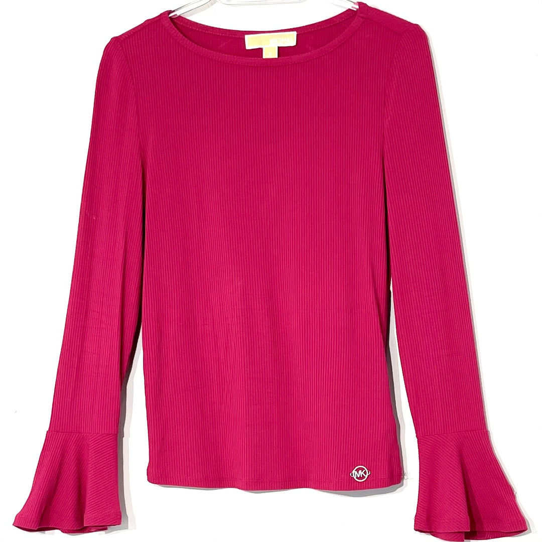 Primary Photo - BRAND: MICHAEL KORS <BR>STYLE: TOP LONG SLEEVE <BR>COLOR: HOT PINK <BR>SIZE: S <BR>SKU: 262-26275-62444