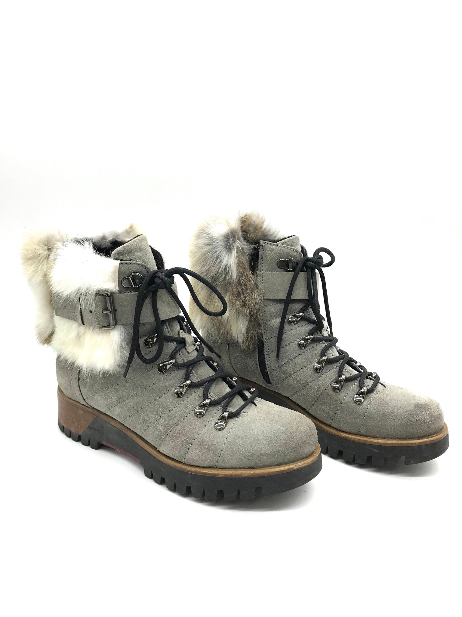 Photo #2 - BRAND:    CLOTHES MENTOR <BR>STYLE: BOOTS ANKLE <BR>COLOR: GREY <BR>SIZE: 7 <BR>OTHER INFO: MANAS  - <BR>SKU: 262-26275-69242<BR>AS IS