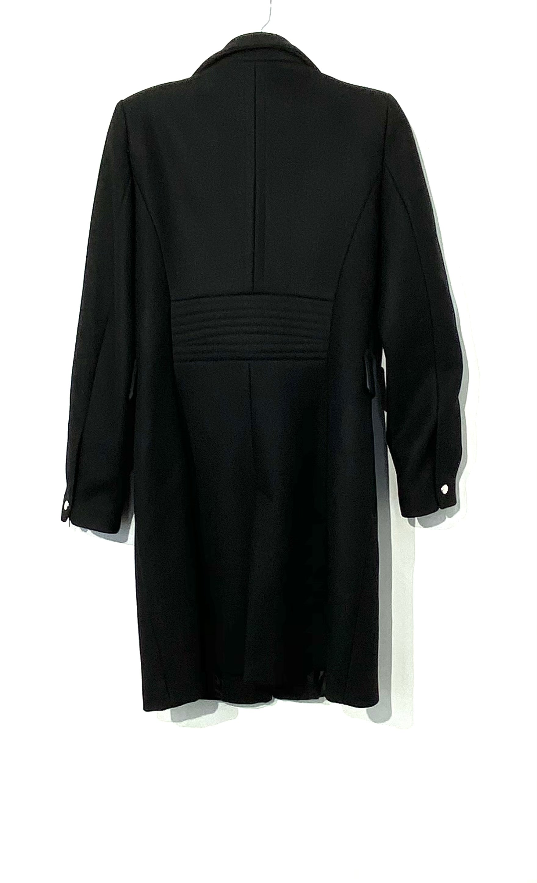 Photo #1 - BRAND: ZARA BASIC <BR>STYLE: COAT<BR>COLOR: BLACK <BR>SIZE: L <BR>SKU: 262-26275-70844<BR>75% WOOL<BR>DESIGNER FINAL