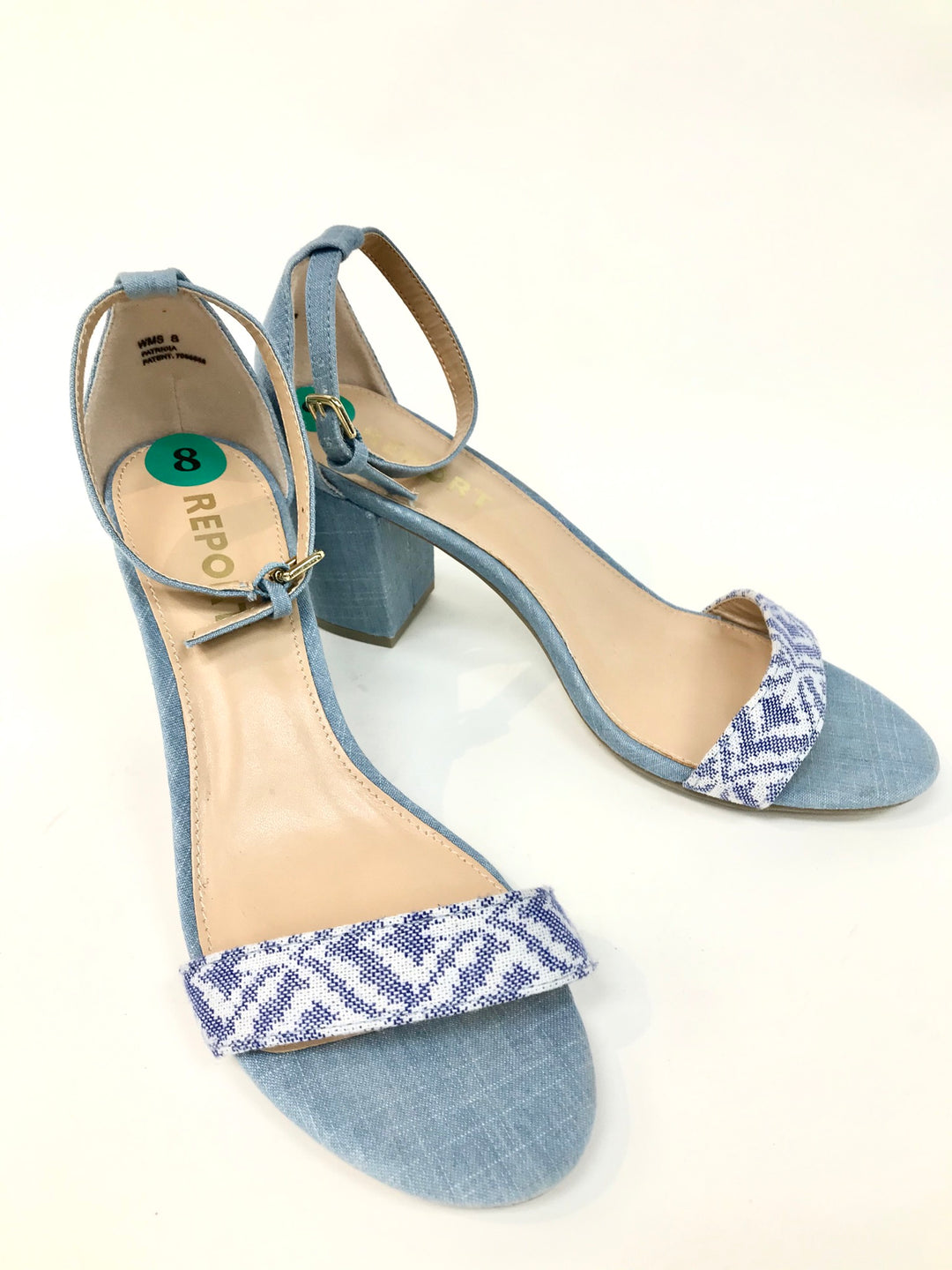 Primary Photo - BRAND: REPORT <BR>STYLE: SANDALS <BR>COLOR: DENIM <BR>SIZE: 8 <BR>SKU: 262-26275-49060