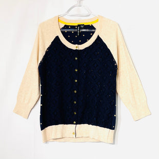 Primary Photo - BRAND: CHARLOTTE STYLE: SWEATER CARDIGAN LIGHTWEIGHT COLOR: NAVY SIZE: M SKU: 262-26275-74171100% COTTON