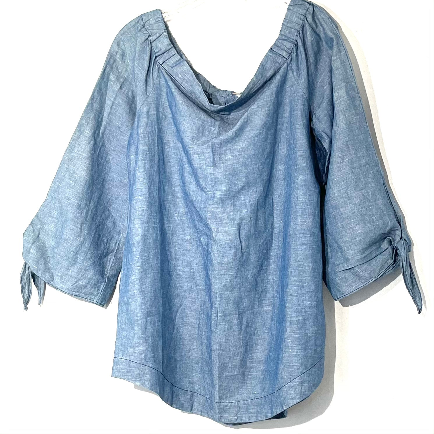 Primary Photo - BRAND: FREE PEOPLE <BR>STYLE: TOP LONG SLEEVE <BR>COLOR: BLUE<BR>SIZE: M <BR>SKU: 262-26275-74382<BR>OFF SHOULDER STYLE