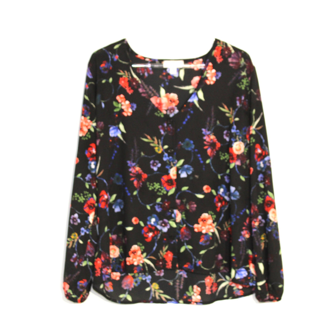 Primary Photo - BRAND: ALLISON JOY <BR>STYLE: BLOUSE<BR>COLOR: FLORAL <BR>SIZE: M <BR>SKU: 262-26275-60860