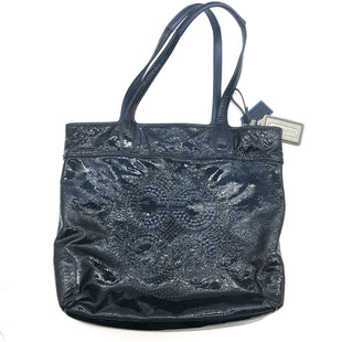 "Primary Photo - BRAND: COACH STYLE: HANDBAG DESIGNER COLOR: PATENT NAVY-TEAL SIZE: MEDIUM SKU: 262-26275-74108AS IS SLIGHT WEAR DESIGNER BRAND FINAL SALE APPROX 15""X14""X3"""