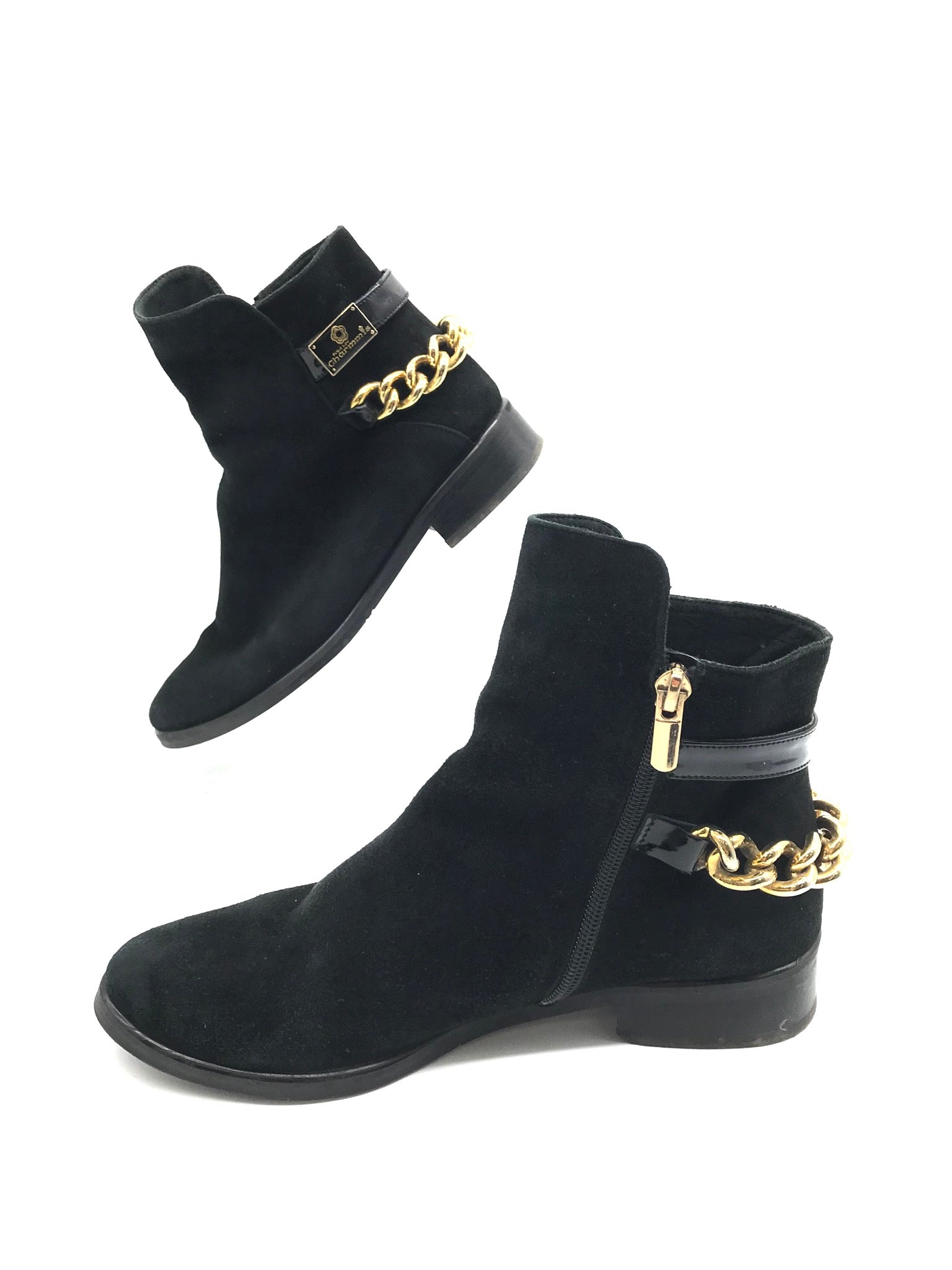 Photo #2 - BRAND:    ITALY DESIGN / CHARMISS <BR>STYLE: BOOTS ANKLE <BR>COLOR: BLACK <BR>SIZE: 7 <BR>OTHER INFO: CHARMISS - <BR>SKU: 262-26275-68602