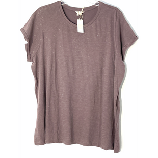 Primary Photo - BRAND: LUCKY BRAND STYLE: TOP SHORT SLEEVE COLOR: SPARKLES PLUMSIZE: 2X SKU: 262-26241-47526