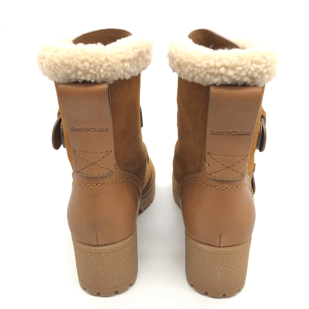 Photo #3 - BRAND: CHLOE <BR>STYLE: BOOTS ANKLE <BR>COLOR: CAMEL<BR>SIZE: 7 | 37<BR>SKU: 262-26275-74175<BR>IN GREAT SHAPE AND CONDITION